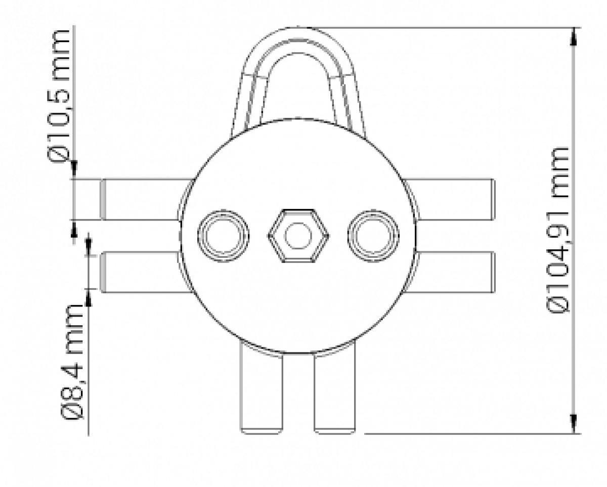 DISTRIBUIDOR DE VACUO 2X2 INOX 500GR (SEXTAVADO)