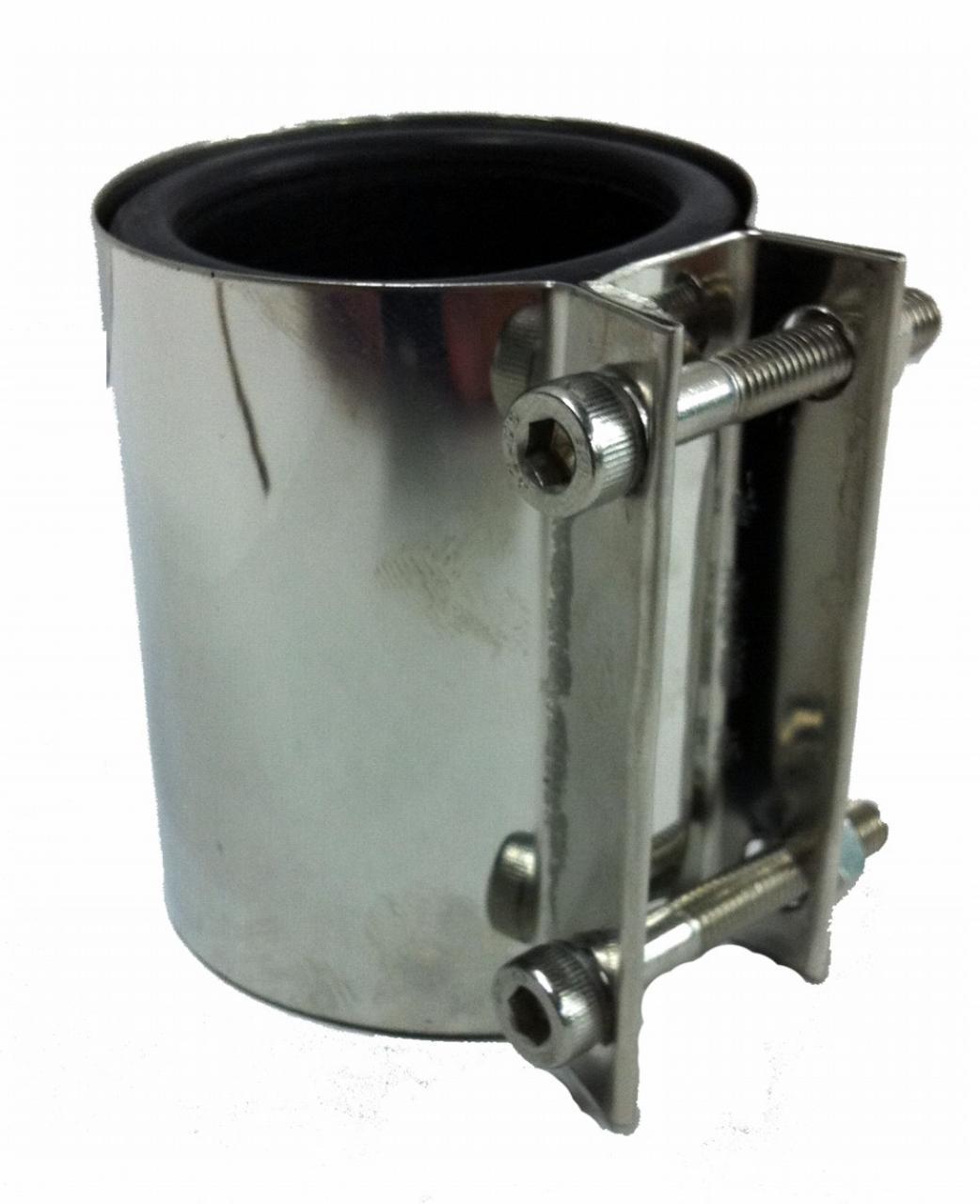 UNIAO EM INOX PARA TUBO DE 38MM (C/BORRACHA)