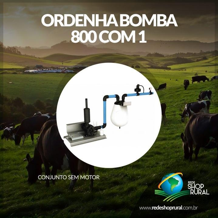 Ordenha Bomba 800 Com 1 Conjunto S/Motor