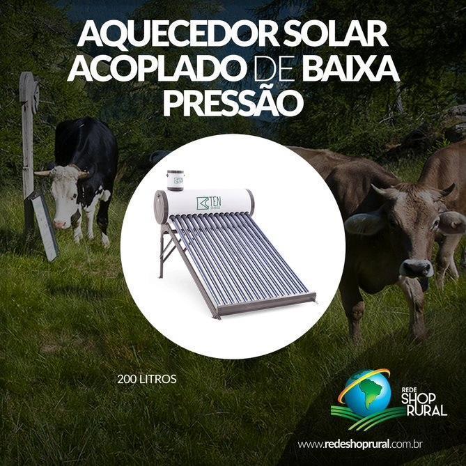 Aquecedor Solar Acoplado De Baixa Pressão (Vertical) 200 Litros
