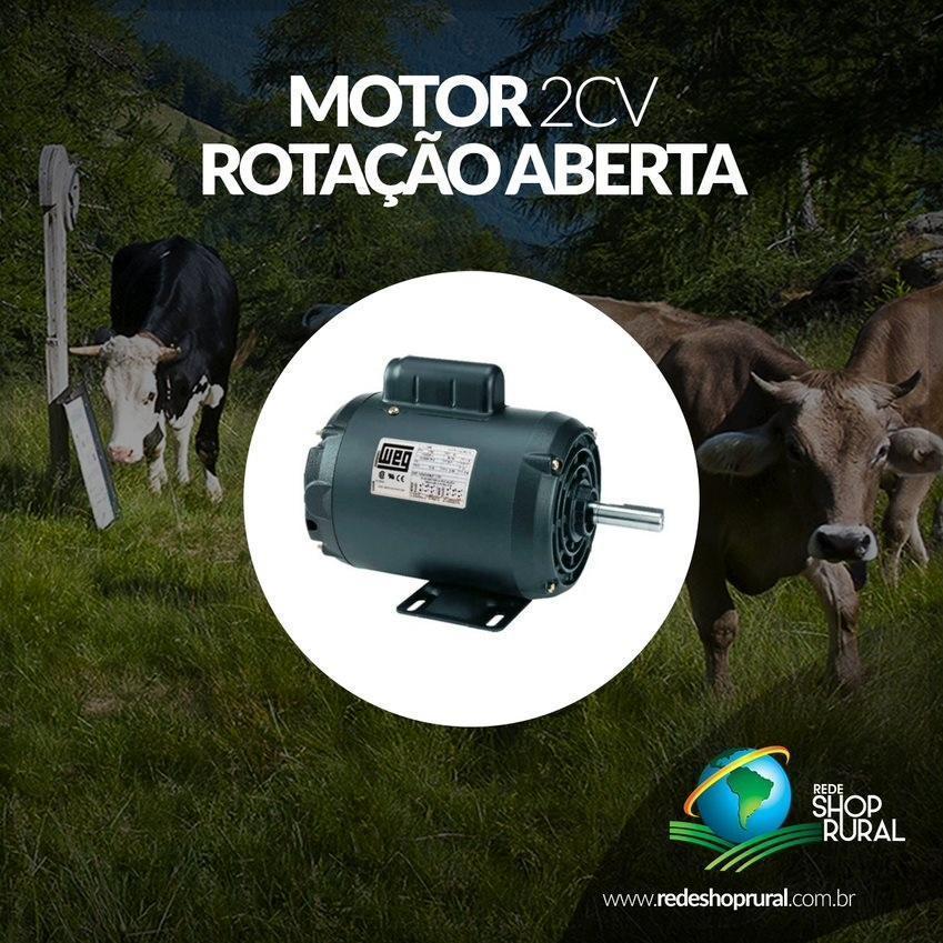 Motor 2cv Weg Mono Bx Rotacao Aberto