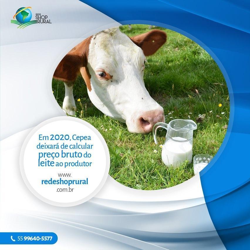 Em 2020, Cepea deixará de calcular preço bruto do leite ao produtor
