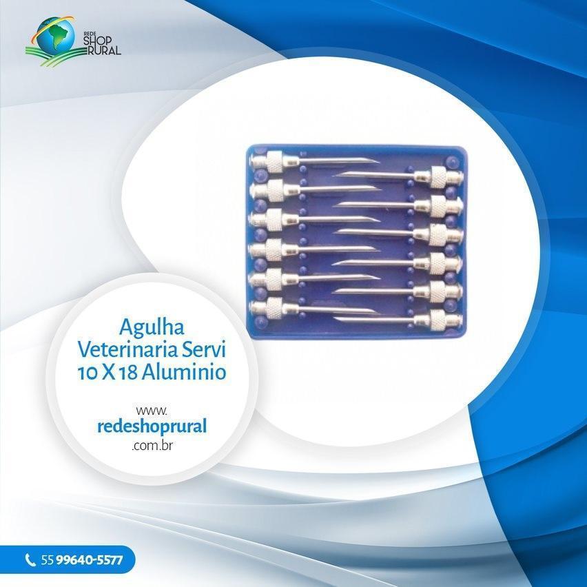Agulha Veterinária Servi 10 X 18 Alumínio
