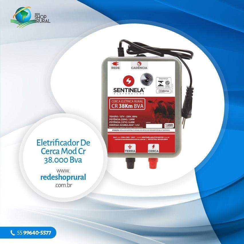 Eletrificador De Cerca Mod Cr 38.000 Bva