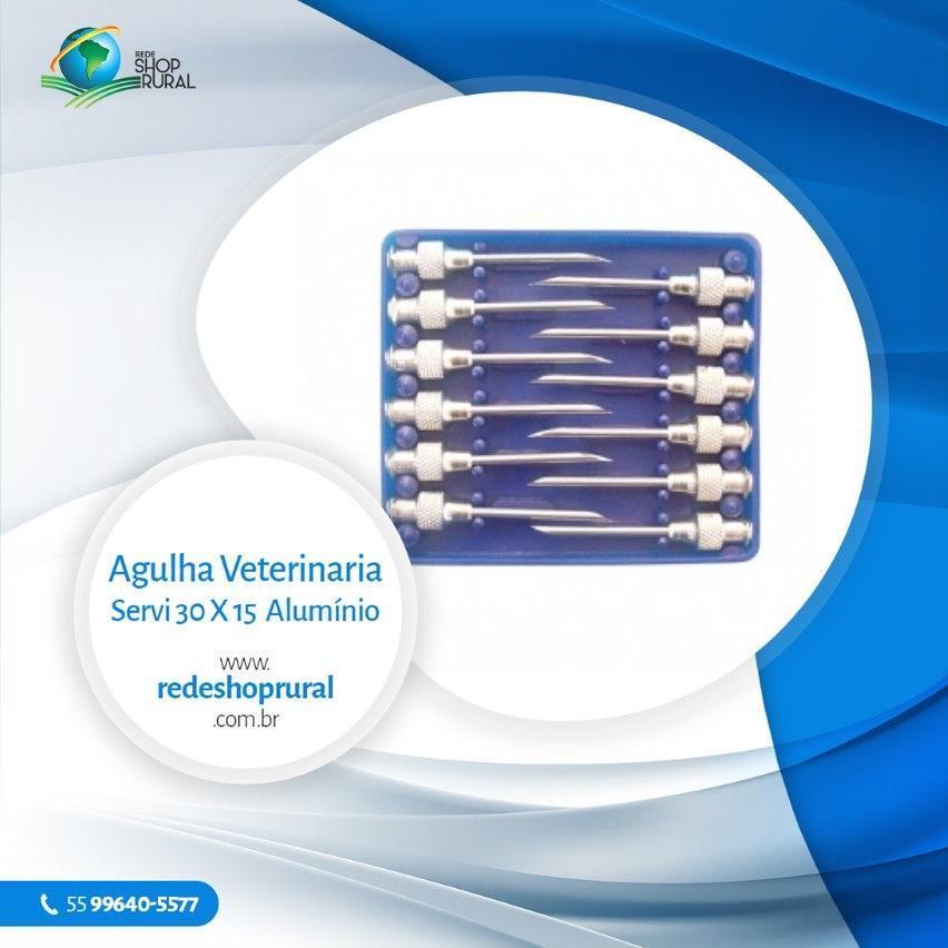 Agulha Veterinária Servi 30 X 15 Alumínio