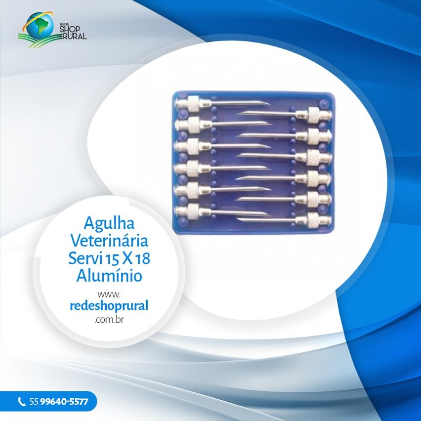 Agulha Veterinária Servi 15 X 18 Alumínio