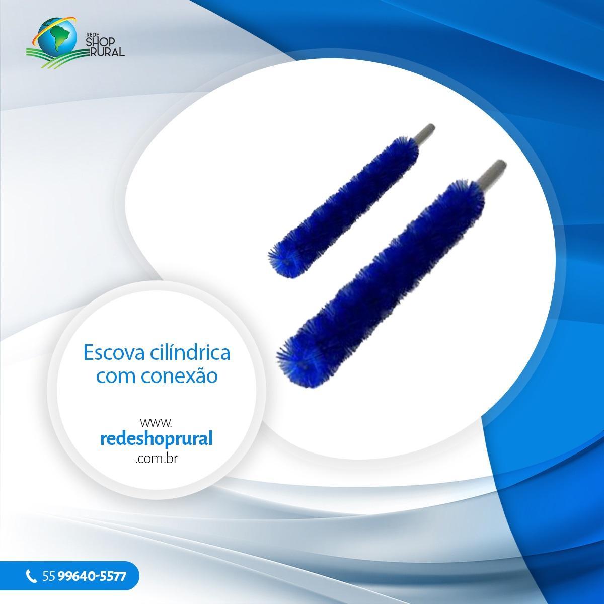 Escova Cilíndrica Com Conexão