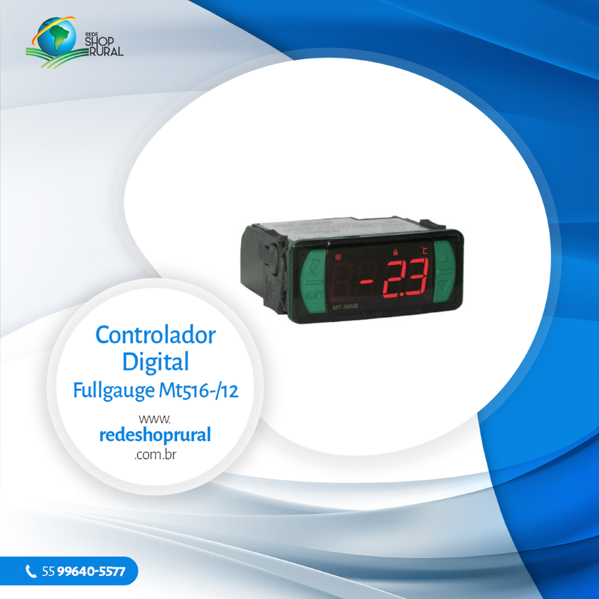 Controlador Digital Fullgauge Mt516-/12