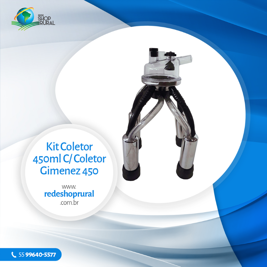 Kit Coletor 450ml C/ Coletor Gimenez 450