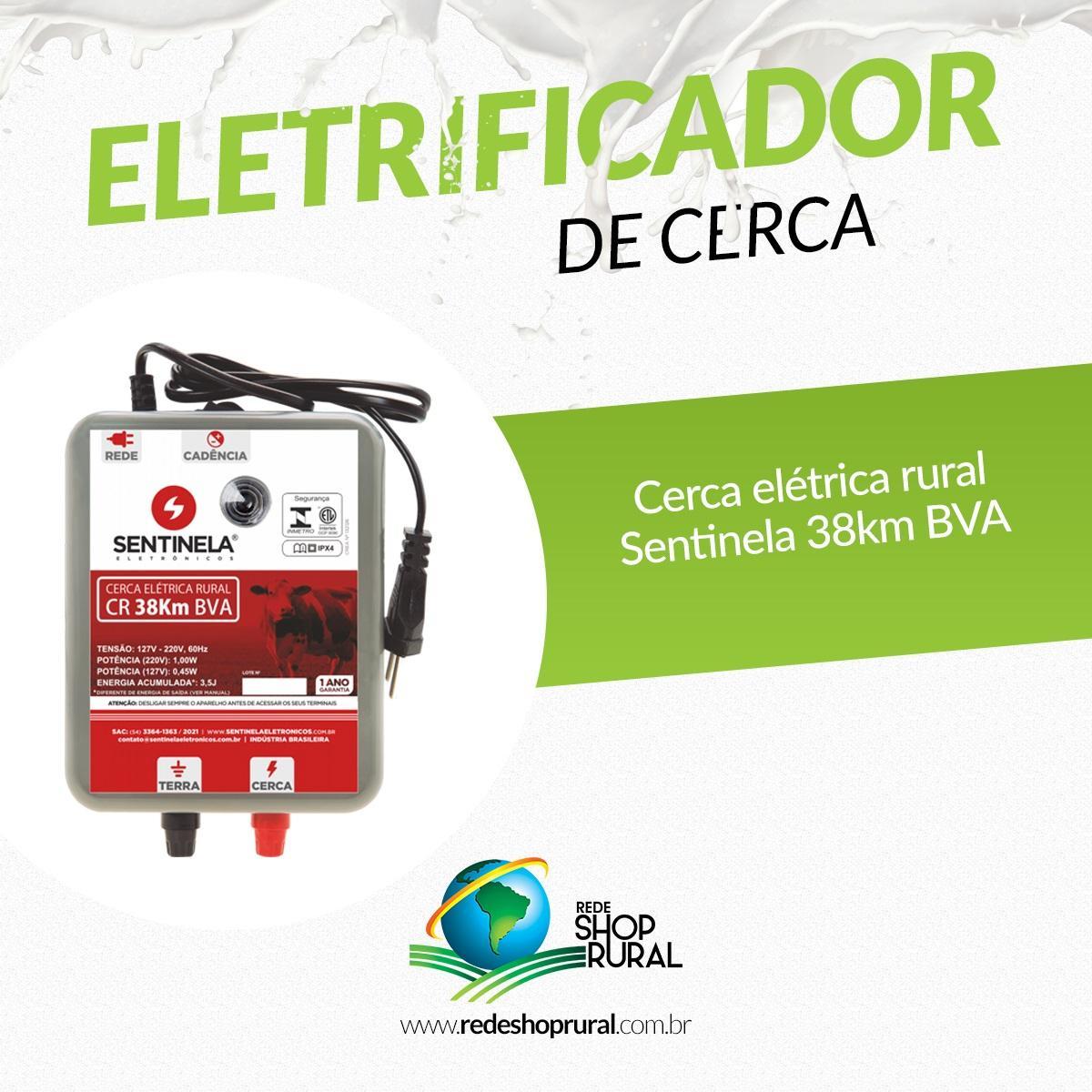 Eletrificador De Cerca Mod Cr 38km BVA