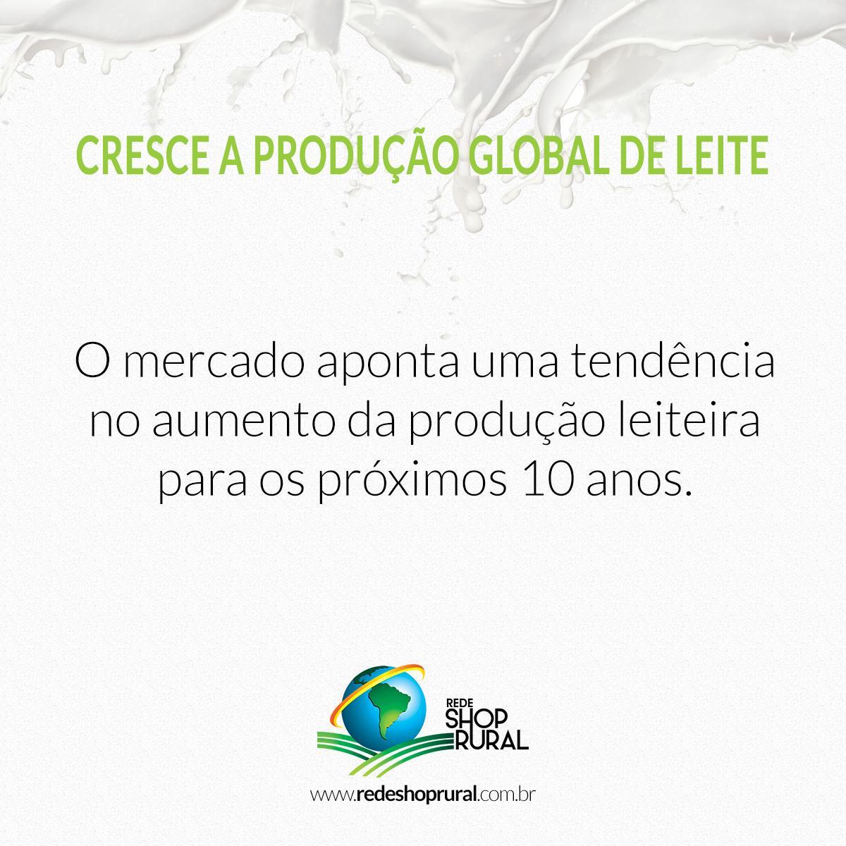 Cresce a produção global de leite